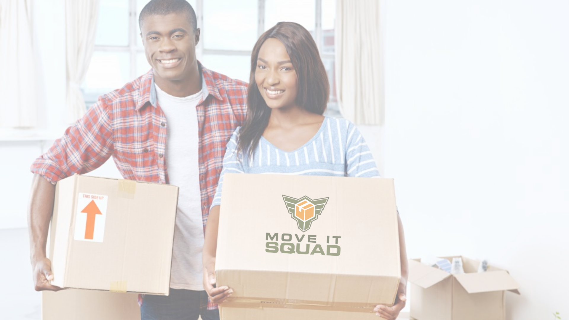 V2_Move It Squad Row Background_1920 x 1080Happy Black couple moving boxes